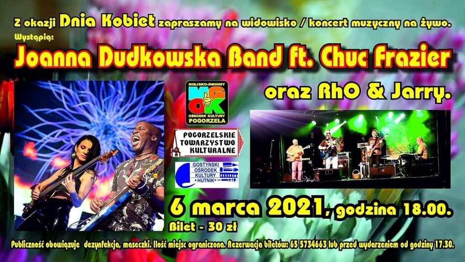 Koncert Joanna Dudkowska Band ft. Chuc Frazier