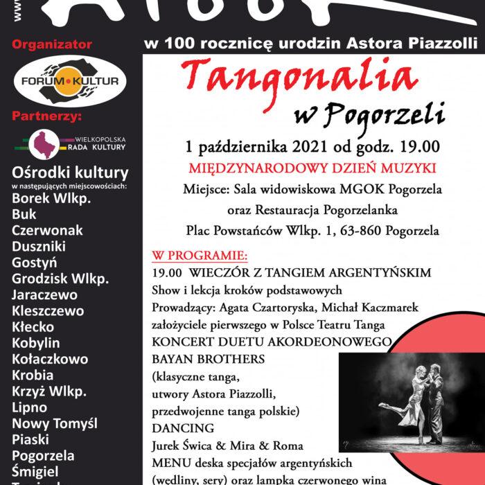UWAGA zmiana daty !! 5.11.2021 Tangonalia w Pogorzeli